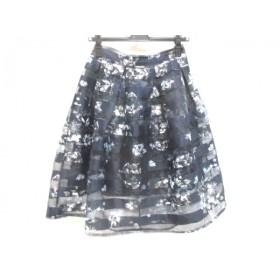 【中古】 ノーブランド スカート サイズ確認できず レディース ネイビー マルチ