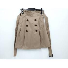 【中古】 アプワイザーリッシェ Apuweiser-riche スカート サイズ1 S レディース 美品 ベージュ リボン