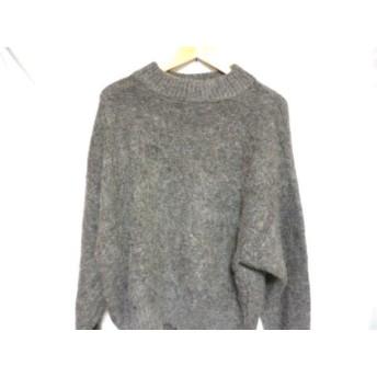 【中古】 エンフォルド ENFOLD 長袖セーター サイズ38 M レディース グレー ハイネック