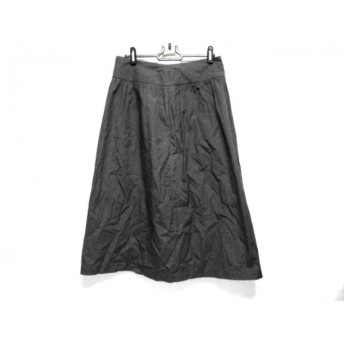 【中古】 アニエスベー agnes b スカート サイズ38 M レディース ダークグレー