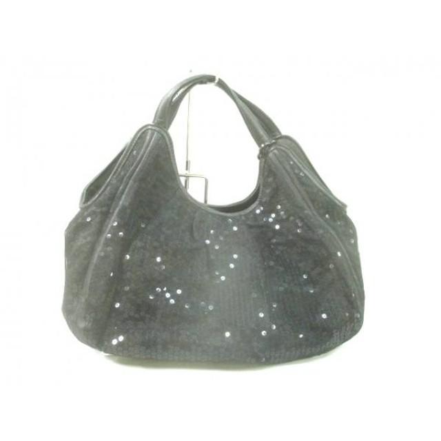 【中古】 アンテプリマミスト ハンドバッグ 黒 スパンコール/メッシュ 化学繊維 合皮 スパンコール