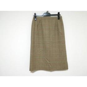 【中古】 バーバリーズ Burberry's スカート サイズ13 L レディース ライトブラウン チェック柄