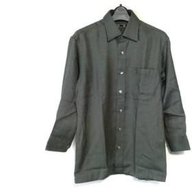 【中古】 ダックス DAKS 長袖シャツ サイズS メンズ 美品 ダークグリーン