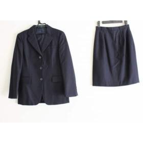 【中古】 ニューヨーカー NEW YORKER スカートスーツ サイズ9AR S レディース ダークネイビー