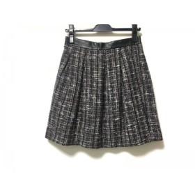 【中古】 ロイスクレヨン Lois CRAYON スカート サイズM レディース パープル グレー マルチ ツイード