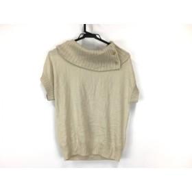 【中古】 マッキントッシュフィロソフィー 半袖セーター サイズ38 L レディース 美品 アイボリー