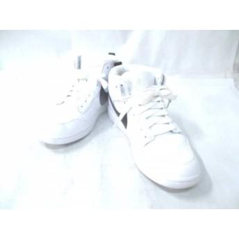 【中古】 ナイキ スニーカー メンズ ダンク ラックス チャッカ 910088-101 白 黒 リカルド・ティッシ