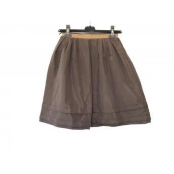 【中古】 ジャスグリッティー JUSGLITTY スカート サイズ1 S レディース ダークブラウン