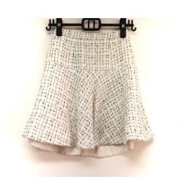 【中古】 アプワイザーリッシェ Apuweiser-riche スカート サイズ0 XS レディース 白 黒
