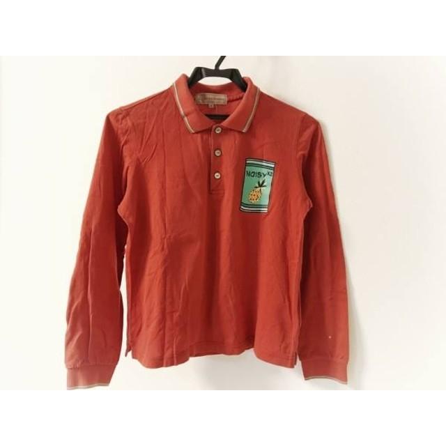 【中古】 ミエコウエサコ MIEKO UESAKO 長袖ポロシャツ サイズ40 M レディース レッド グリーン