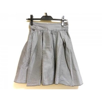【中古】 フレイアイディー FRAY I.D スカート サイズ0 XS レディース ライトグレー 黒 千鳥格子