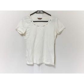 【中古】 ピンクハウス PINK HOUSE 半袖Tシャツ サイズM レディース 白 レース