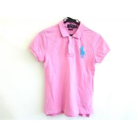 【中古】 ポロラルフローレン 半袖ポロシャツ サイズS160/84A レディース ビッグポニー ピンク