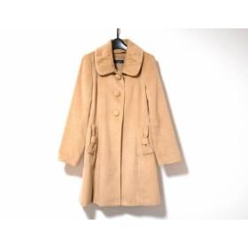 【中古】 レストローズ L'EST ROSE コート サイズ2 M レディース ベージュ リボン