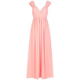 《送料無料》TRAFFIC PEOPLE レディース ロングワンピース&ドレス サーモンピンク M ポリエステル 100%