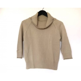 【中古】 ニジュウサンク 23区 七分袖セーター サイズ38 M レディース ベージュ タートルネック