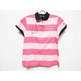 【中古】 マンシングウェア Munsingwear 半袖ポロシャツ サイズL レディース ピンク 黒
