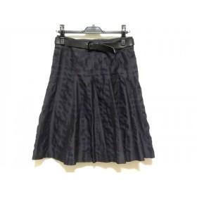 【中古】 バーバリーロンドン スカート サイズ38 L レディース ダークネイビー チェック柄
