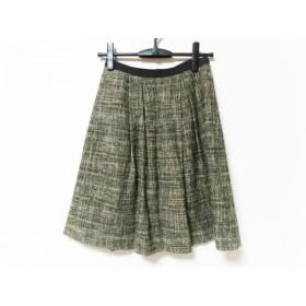 【中古】 トゥモローランド TOMORROWLAND スカート サイズ1 S レディース ダークブラウン マルチ