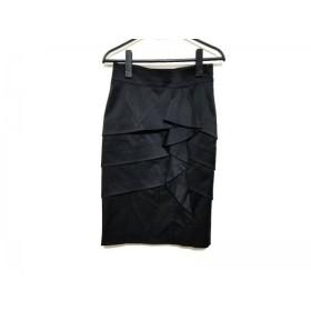 【中古】 マテリア MATERIA スカート サイズ36 S レディース 黒 ティアード