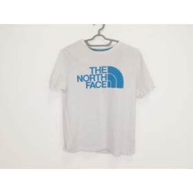【中古】 ノースフェイス THE NORTH FACE 半袖Tシャツ サイズL メンズ 白 ブルー