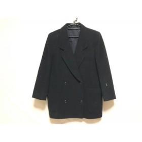 【中古】 バーバリーズ Burberry's コート サイズ7AR S レディース 黒 冬物