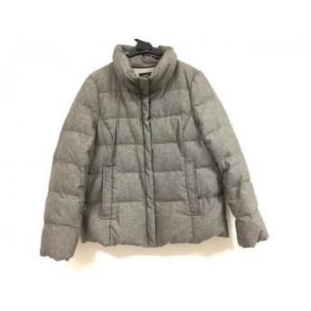 【中古】 ニジュウサンク ダウンジャケット サイズ46 XL レディース ダークブラウン ダークグレー 冬物