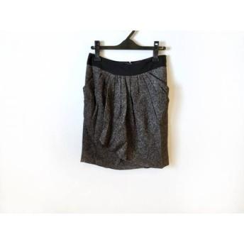 【中古】 アドーア ADORE スカート サイズ38 M レディース 美品 黒 シルバー ラメ