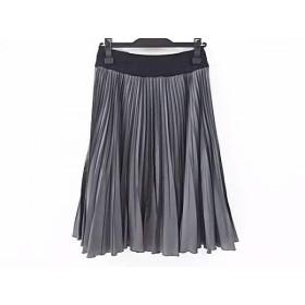 【中古】 コトゥー COTOO スカート サイズ36 S レディース グレー 黒 プリーツ