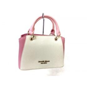【中古】 サマンサタバサプチチョイス ハンドバッグ アイボリー ピンク ミニサイズ 合皮