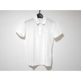 【中古】 ラコステ Lacoste 半袖ポロシャツ サイズ2 M レディース 美品 白