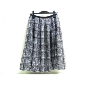 【中古】 ノーブランド スカート サイズ40 M レディース ダークブラウン マルチ
