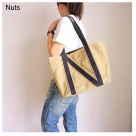 毎日持ちたくなる多機能 Nutsトートバッグ(M)Peanuts 帆布