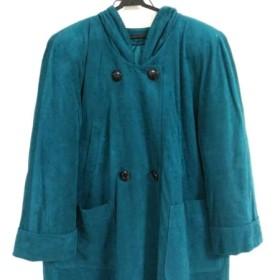 【中古】 レリアン Leilian コート サイズ9 M レディース ブルー 冬物 ポリエステル