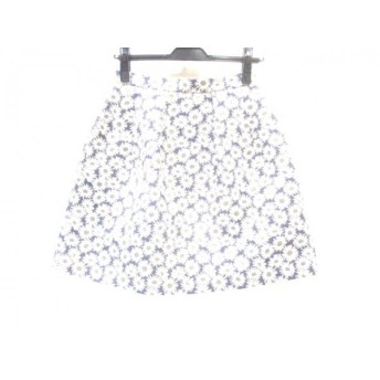 【中古】 クローラ CROLLA スカート サイズ36 S レディース ブルー ホワイト ゴールド