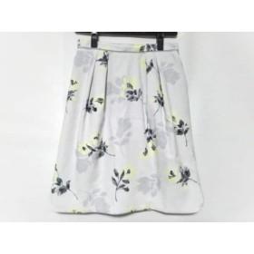 【中古】 アプワイザーリッシェ スカート サイズ1 S レディース ライトグレー グレー イエロー 花柄