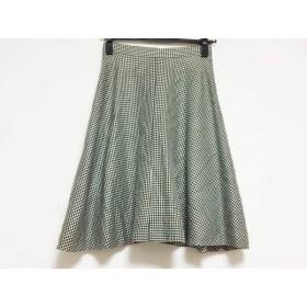 【中古】 ユキトリイ YUKITORII スカート サイズ9 M レディース 美品 黒 白