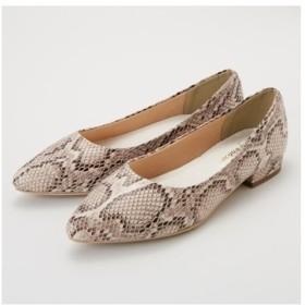 靴 大きいサイズ レディース ポインテッドフラット パンプス 低反発中敷 ワイズ4E  23.0〜23.5/24.0〜24.5cm ニッセン