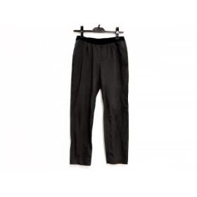 【中古】 グーコミューン GOUT COMMUN パンツ サイズ38 M レディース 美品 ダークグレー 黒