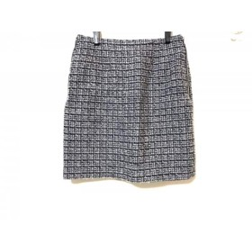 【中古】 アプワイザーリッシェ スカート サイズ2 M レディース ネイビー ライトブルー ピンク ツイード