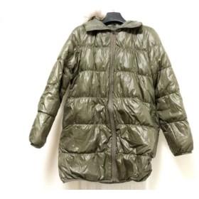 【中古】 ロートレアモン LAUTREAMONT ダウンコート サイズ2 M レディース カーキ 冬物