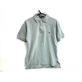【中古】 ポロラルフローレン POLObyRalphLauren 半袖ポロシャツ サイズM メンズ ライトグレー