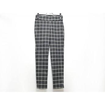 【中古】 ミラオーウェン パンツ サイズ0 XS レディース ダークグレー アイボリー ライトグレー