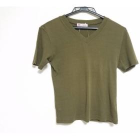 【中古】 オールドイングランド OLD ENGLAND 半袖Tシャツ サイズ36 S レディース カーキ