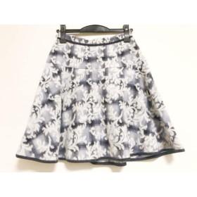 【中古】 アプワイザーリッシェ スカート サイズ1 S レディース 美品 ライトグレー 白 黒