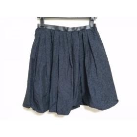 【中古】 ジャスグリッティー JUSGLITTY スカート サイズ2 M レディース 黒 ダークネイビー