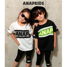 【セール開催中】ANAP KIDS(キッズ)MESHロゴトップス