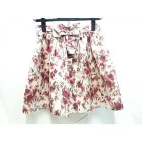 【中古】 レッセパッセ LAISSE PASSE ミニスカート サイズ36 S レディース ピンク マルチ