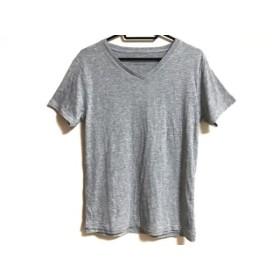【中古】 ジュンハシモト jun hashimoto 半袖Tシャツ サイズM レディース グレー Vネック/nano universe