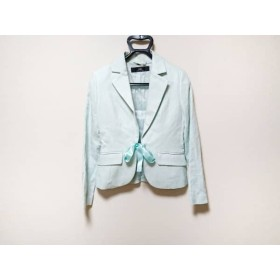 【中古】 イネド INED ジャケット サイズ9 M レディース 美品 ライトブルー ラメ